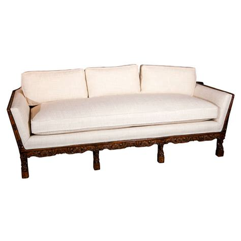 carved wood sofa carved wood frame sofa at 1stdibs