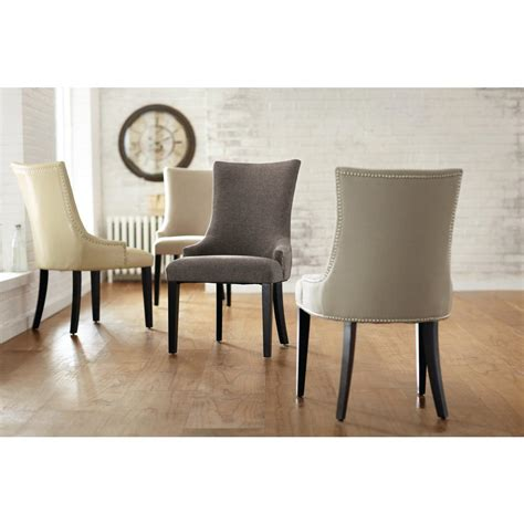 becca dining chair home decorators collection becca grey leather dining chair