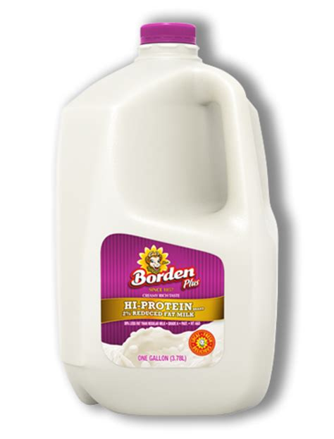 protein 2 milk 2 percent hi protein reduced milk borden dairy