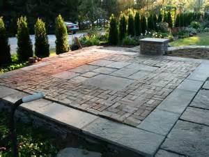 mixed hardscape materials ie brick