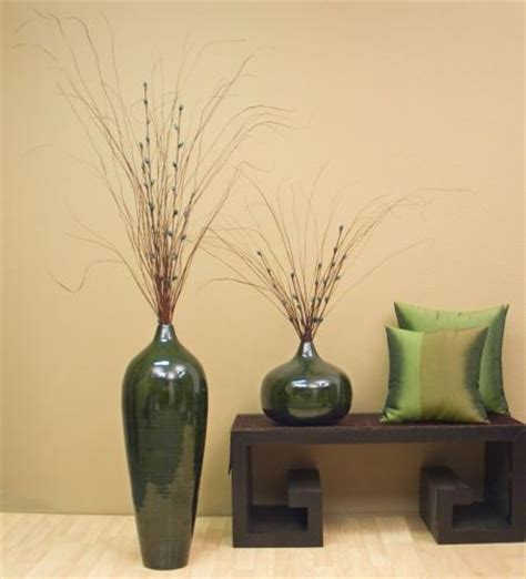 home decor vase decorative vases 24 quot bamboo pod floor vase dark emerald