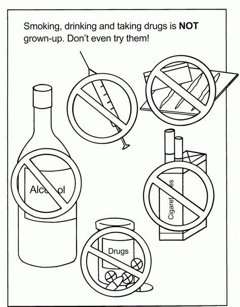 printable drug free coloring pages coloring home