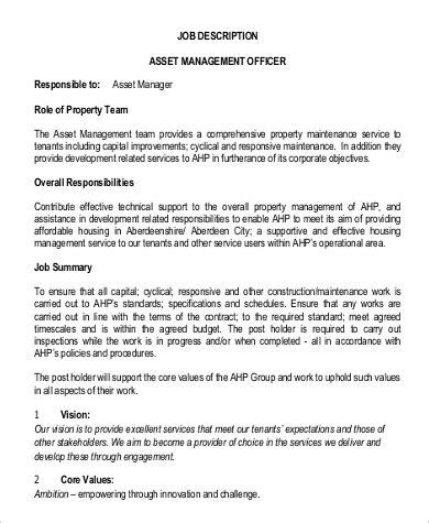 property manager description 9 property management description sles sle