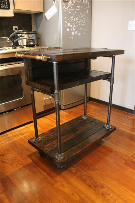 rustic pallet kitchen island cart diy kitchen island industrial pallet kitchen cart table design 101 pallets home is where