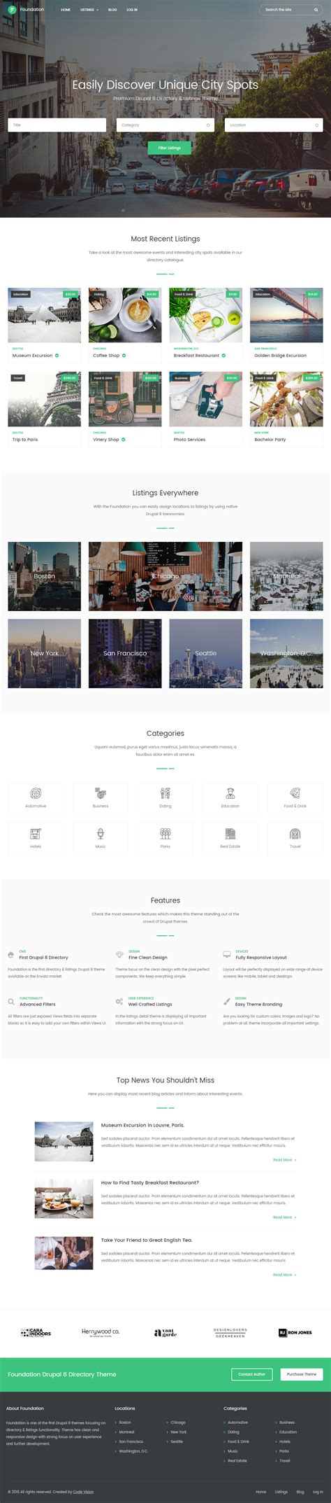 40 Best Drupal 8 Themes And Templates 2017 Responsive Miracle Drupal Custom Theme Template