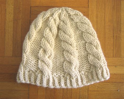 knit cable hat pattern chunky cable hat free pattern d city knits