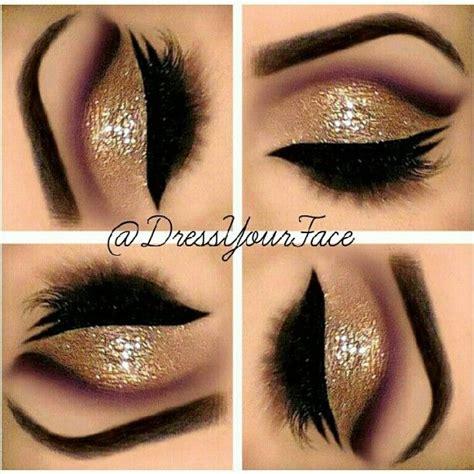 Eyeshadow Wardah Shimmer gold smokey glitter eyeshadow vibrant smokey bold eye makeup maquiagens para festas