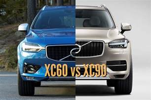 Volvo Xc90 Vs Xc60 2018 Volvo Xc60 Vs 2017 Xc90 Differences In Photo