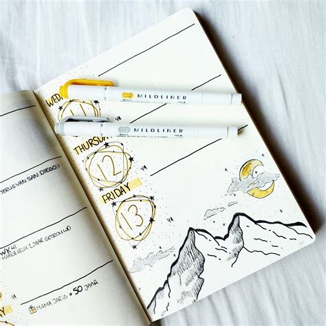 document layout pinterest bujo by marieke bullet journal weekly space theme