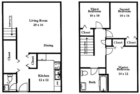 sketch of 3 bedroom house two bedroom sketch