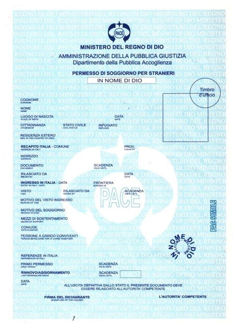 documento per carta di soggiorno casa di mattoni permesso di soggiorno in nome di dio