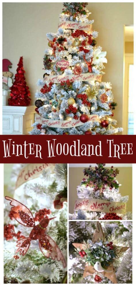 winter woodland christmas tree pretty my party