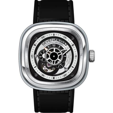 Sevenfriday Series P 5 sevenfriday p series quot essence quot p1b 01 skeletonised silver