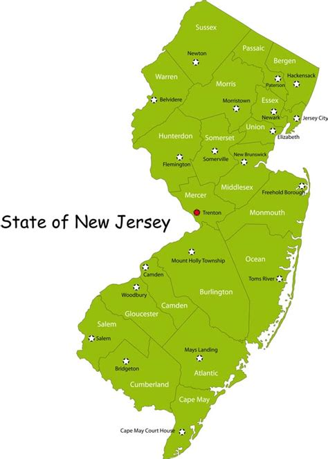 a to z the usa new jersey state flower new jersey state map map of new jersey state map of usa
