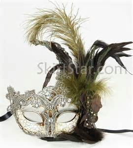 prom masks venetian mask crystals silver masquerade fancy dress costume feather prom ebay