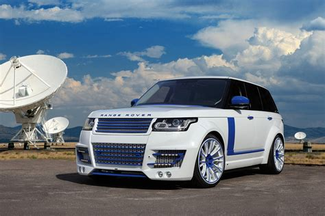 range rover blue and white range rover lumma clr r white and blue topcar