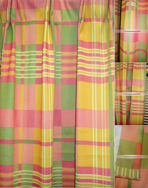 red and yellow curtains red and yellow plaid curtains images