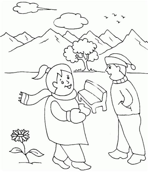 winter coloring pages pdf winter season coloring pages free printable for preschool
