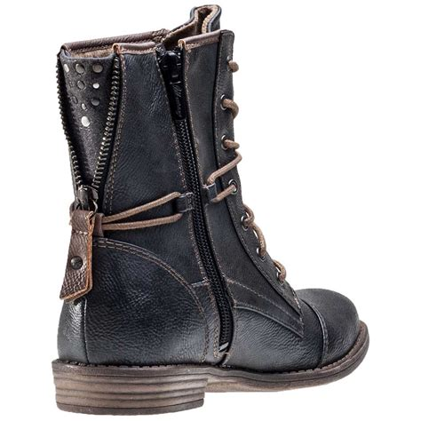 mustang ankle boot womens boots in anthracite