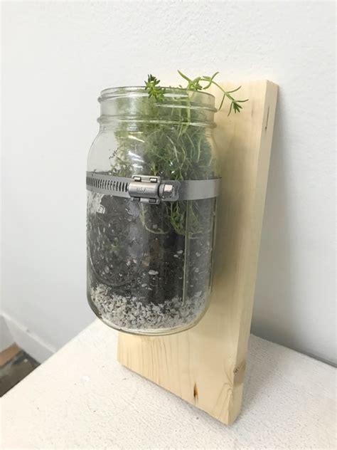 How To Make A Wall Mounted Mason Jar Planter Jar Wall Planter