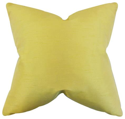 yellow bed pillows acker yellow 18 x 18 solid throw pillow traditional