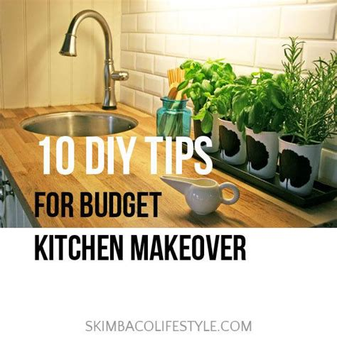 budget kitchen makeover ideas 10 diy tips for a budget kitchen makeover skimbaco