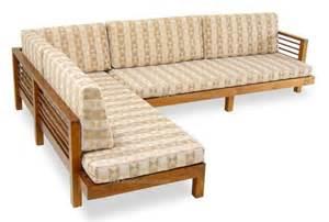 teak l shape sofa set