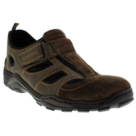 velcro shoes rieker mens samca brown velcro shoe 08075 27 at marshall shoes
