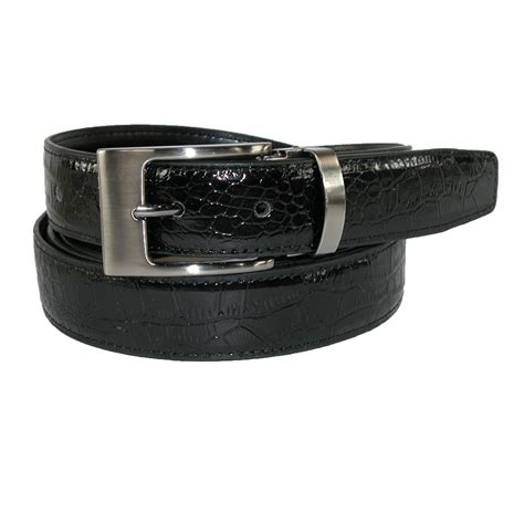 new ctm s leather croc print dress belt with cl on