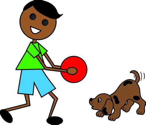 to play with puppy clip illustration of a mexican boy with his a photo on