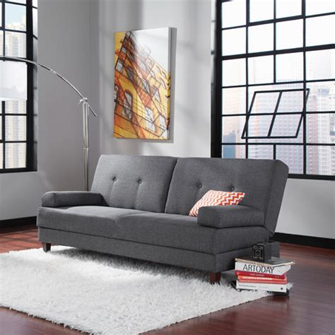 Sauder Futon by Sauder Premier Carver Convertible Sofa Gray