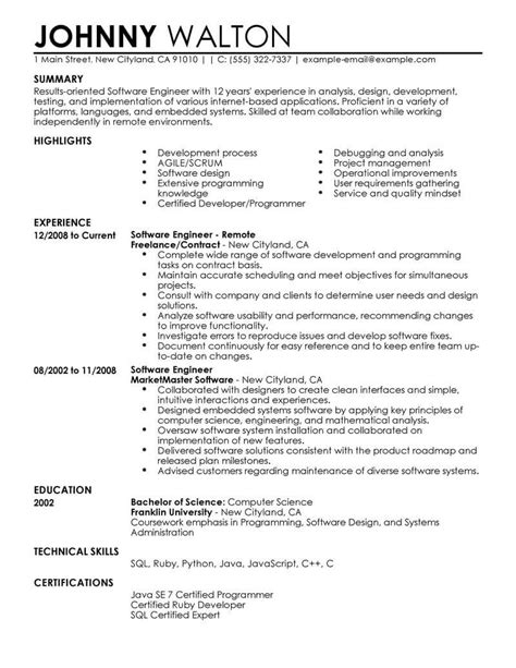 remote software engineer resume  livecareer