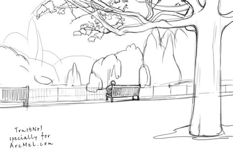 park bench drawing how to draw a park bench step by step images
