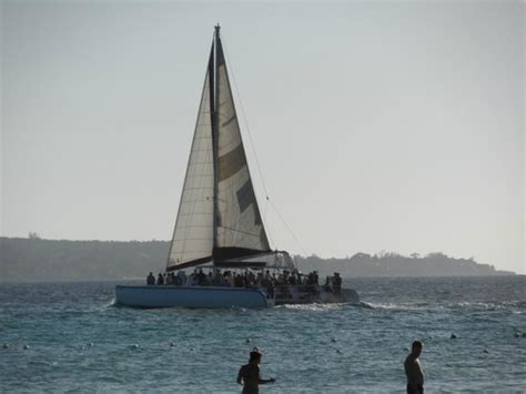 catamaran booze cruise negril jamaica sunset from the included catamaran cruise picture of