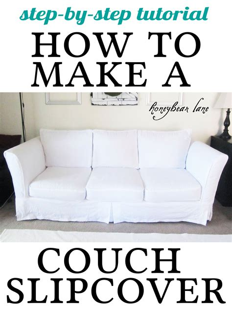 how to make a slipcover part 2 slipcover reveal - How To Make A Sofa Cover