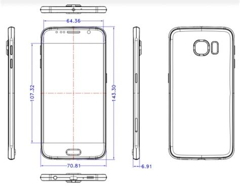 leaked samsung galaxy s6 schematics show the phone copying