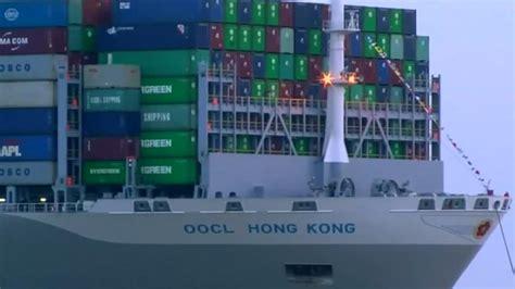 Englische Motorräder Hamburg by Oocl Hong Kong Gr 246 223 Tes Containerschiff Der Welt Erreicht