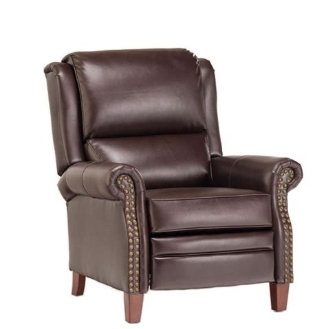 cheers leather recliner push back recliner by cheers industrial decor