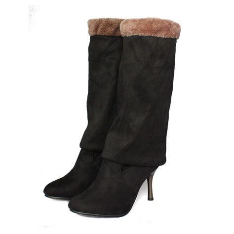 stovepipe the knee high heel boots payless shoes