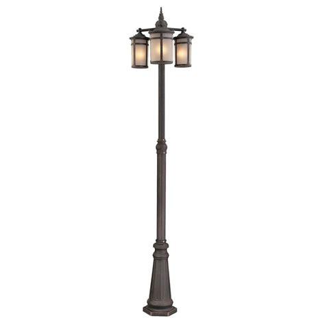 L Post Light Doesn T Work by Filament Design Beyer 3 Light Outdoor Bronze Post Light Cli Acg863926 The Home Depot