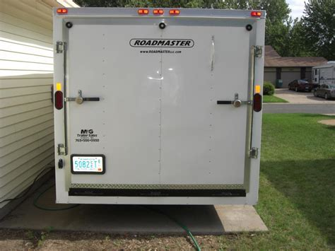 Ready for Sturgis Enclosed 4 place trailer   Harley