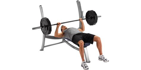 bench press with weights and bar olympic bench press cybex free weights olympic bench