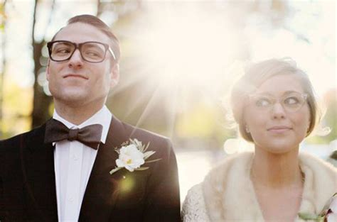 Wedding Hair With Glasses by Brides Wearing Glasses On Their Wedding Day Style