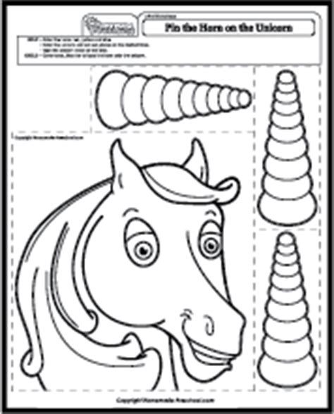printable unicorn horn printable pin the horn on unicorn sketch coloring page