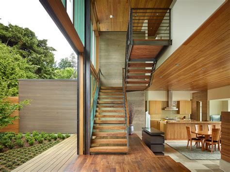 courtyard house deforest architects courtyard house contemporary staircase seattle by