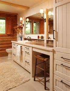 log home bathroom vanities log home living