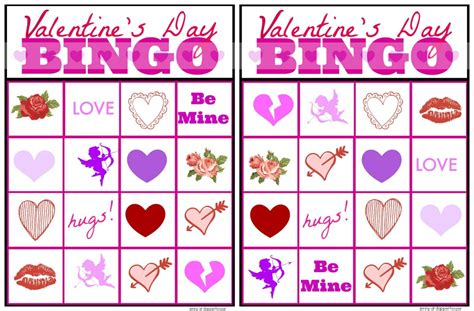 printable free valentine bingo 7 best images of free printable valentine s day bingo