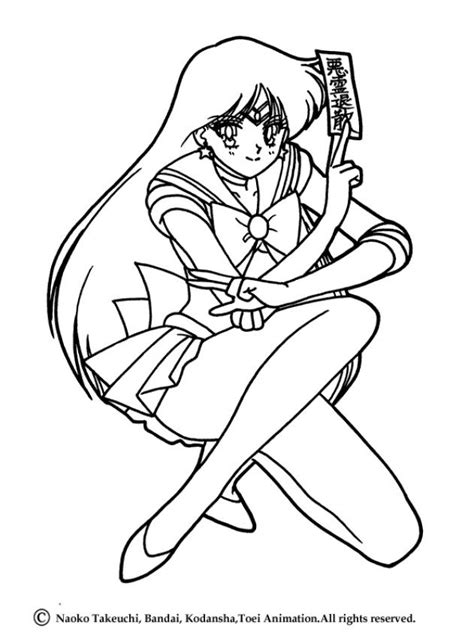 Sailor Mars Coloring Pages sailor mars posture coloring pages hellokids