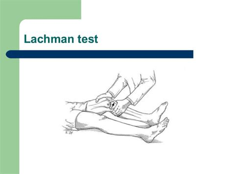 Lachman Drawer by Approach Knee