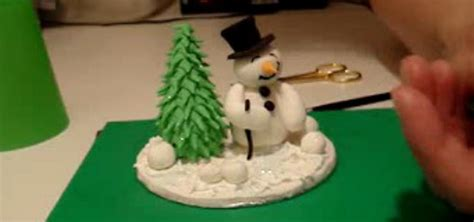 how to make a snowman christmas tree with sugar paste